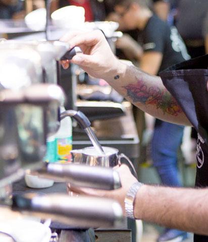 E71 ai campionati tedeschi di Latte Art